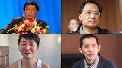 Fang Bin, Chen Qiushi, Ren Zhiqiang y Xu Zhangrun, todas víctimas de China
