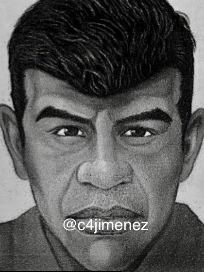 El retrato hablado del violador en serie, según la FGJ CDMX (Foto: Twitter/c4jimenez)