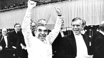 García Márquez recibiendo el Nobel en 1982 (Foto: Shutterstock)
