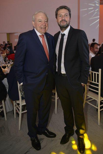 El diputado Jorge Enríquez y el presidente de San Lorenzo, Matías Lammens