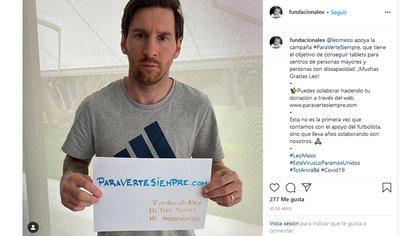 Messi colaboró con la Fundación Alex - @fundacionalex