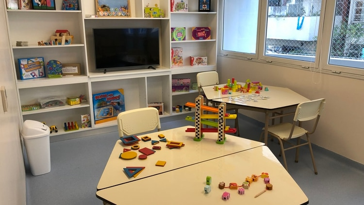 El centro cuenta con espacios exclusivos para niños con problemas mentales