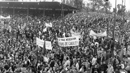 """""""El Mayo Francés"""" fuer parte de los acontecimientos que hicieron de 1968 un momento de efervescencia global como pocas veces se vivió en la historia (Getty)"""