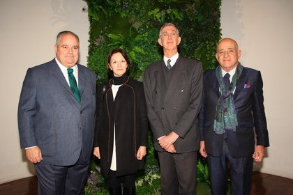 Henriquez Pires, secretario de Cultura de Brasil, Diana Wechsler, Sergio Franca Danese, embajador de Brasil en Argentina y Anibal Jozami