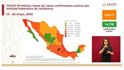 En la Ciudad de México, el Estado de México y Baja California se han presentado el mayor número de muertes por coronavirus (Foto: SSa)