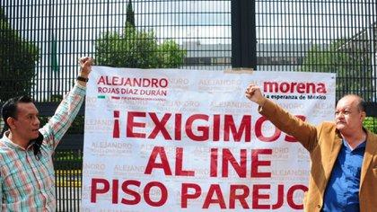 """La """"toma"""" del INE fue simbólica para pedir que los comicios internos morenistas sean justos y democráticos (Foto: Cuartoscuro)"""