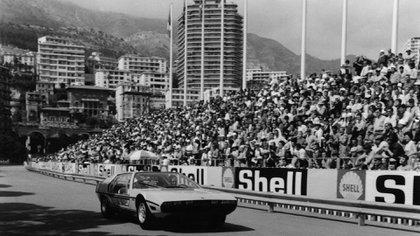 El Marzal en su gran aparición durante el Gran Premio de Fórmula 1 en Mónaco, en 1967.