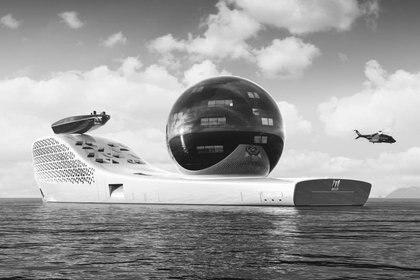 Se ofrecerán viajes a multimillonarios por 3 millones de dólares el cupo que es comprarán acceso a 10 suits de lujo dentro del barco. Foto: Earth 300.com