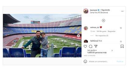 El posteo de Messi en Instagram