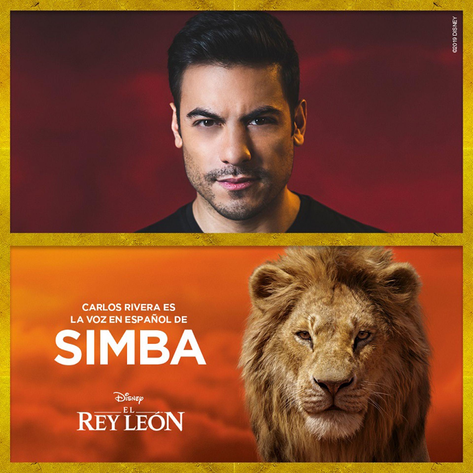 Carlos Rivera, la voz para Latinoamérica de Simba.