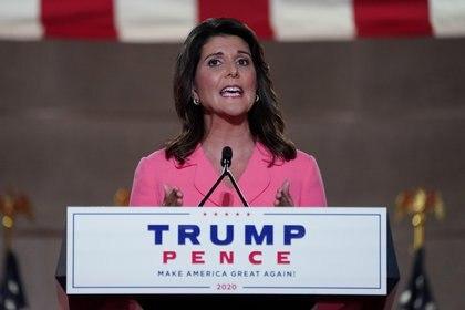 Nikki Haley en la Convención Nacional demócrata del 2020.  REUTERS/Kevin Lamarque
