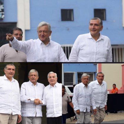 El gobernador de Tabasco en compañía del presidente de México (Foto: @adan_augusto)