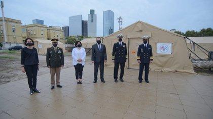 El encuentro se celebró en buena sintonía tras la salida de la Argentina del Grupo de Lima (Gentileza Ministerio de Defensa)