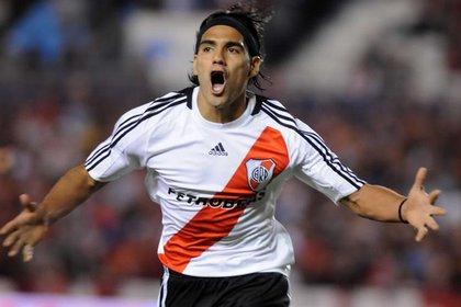 Radamel Falcao García supo brillar con la camiseta de River