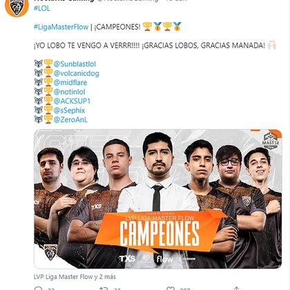 Nocturns Gaming, campeón del Apertura 2020 de la LVP argentina