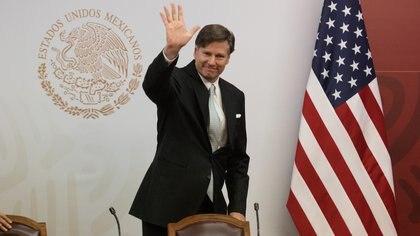 """CIUDAD DE MÉXICO, 07OCTUBRE2019.- Jesús Seade, subsecretario para América del Norte de la SRE, y Christopher Landau, embajador de Estados Unidos en México, encabezaron la inauguración del coloquio del """"Foro Bilateral sobre la Educación Superior (FOBESII)"""", en la cancillería. FOTO: MOISÉS PABLO /CUARTOSCURO.COM"""