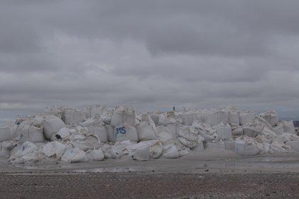 Los bolsones de arena que las Basilotta eligieron para su nuevo proyecto
