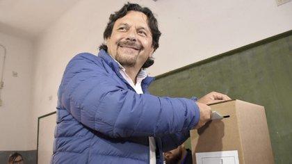 Gustavo Sáenz, gobernador salteño, durante las elecciones de 2019