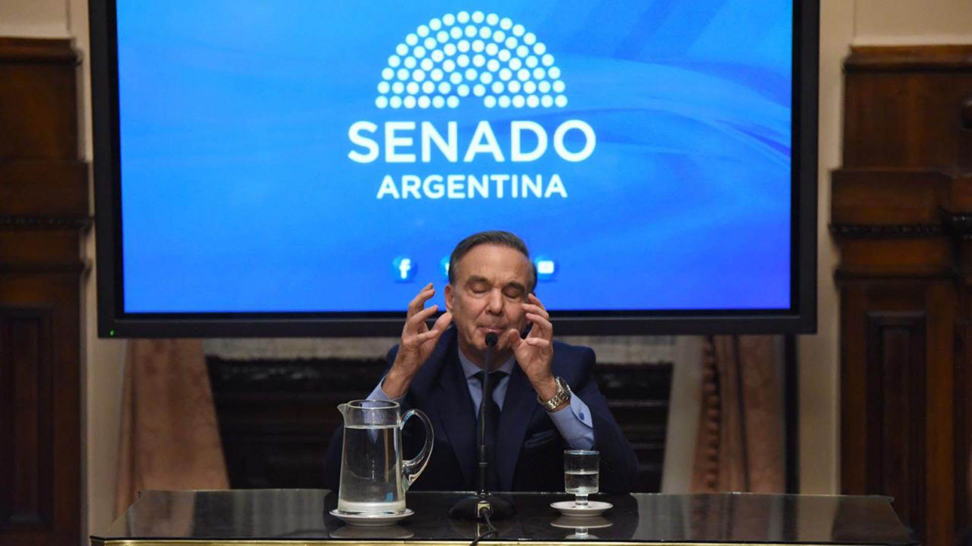 Miguel Ángel Pichetto, senador peronista y candidato a vicepresidente de Macri (Julieta Ferrario)
