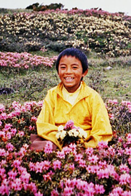 Mingyur a sus nueve años