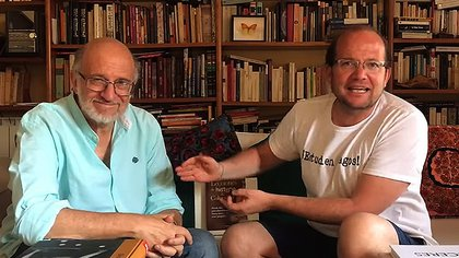 Periodistas Daniel Samper Pizano y su hijo, Daniel Samper Ospina. Archivo.