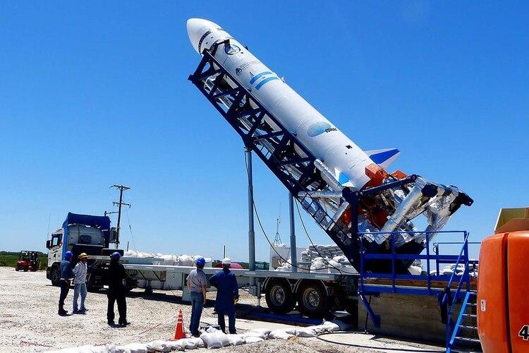 El Vehículo Experimental VEX 1B del Proyecto Tronador que lanzaron en Pipinas, provincia de Buenos Aires (UNLP)