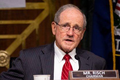 El presidente del Comité de Relaciones Exteriores del Senado, el senador de Idaho Jim Risch (Caroline Brehman/Pool via REUTERS)