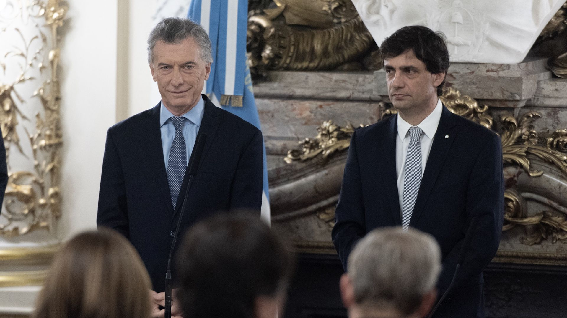 Mauricio Macri y Hernán Lacunza (Adrián Escandar)