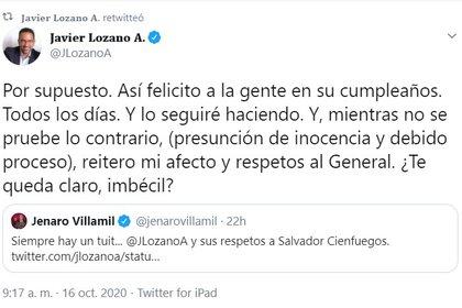 Esta no es la primera vez que el exsenador Javier Lozano le responde así a una persona.