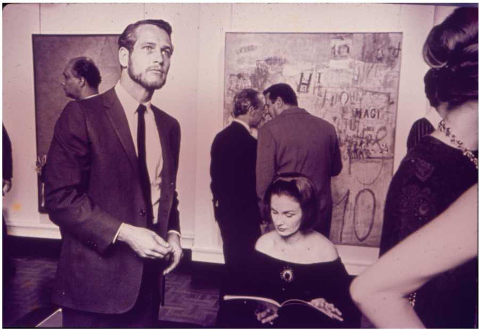 Paul Newman y Joanne Woodward en la inauguración de Magnet New York, (1964)