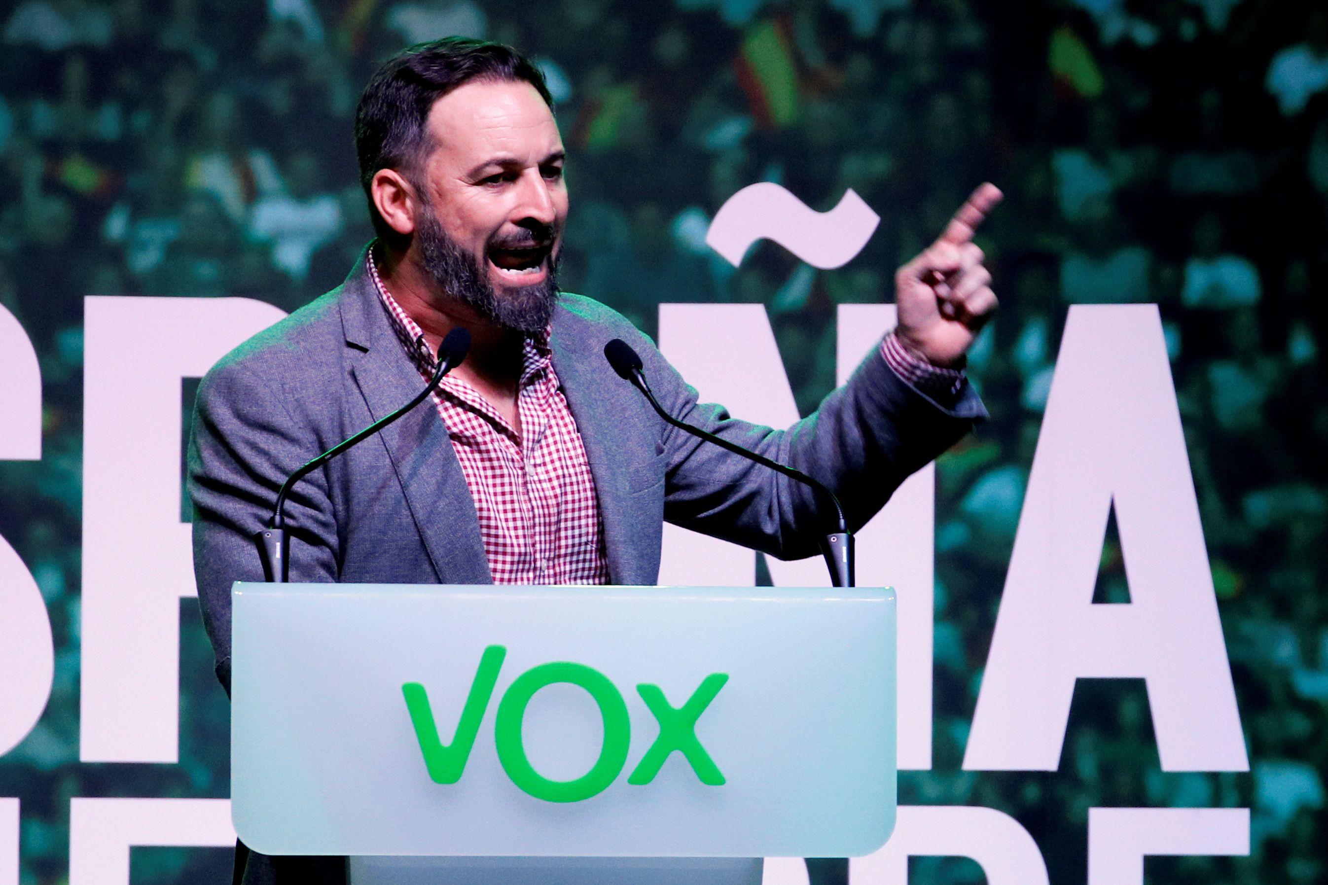 Santiago Abascal, líder del partido de extrema derecha español VOX