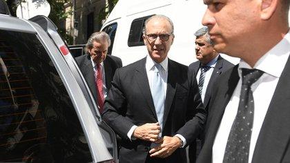 Los jueces de la Corte saliendo de  la asunción del presidente Alberto Fernández. (Maximiliano Luna)
