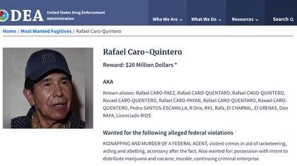 Rafael Caro Quintero está entre los más buscados por la justicia de Estados Unidos (Foto: Archivo)