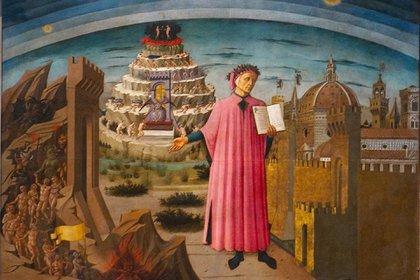 """""""Dante y su poema"""" (1465) de Domenico di Michelino"""