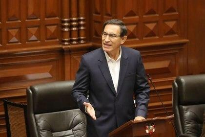 El presidente de Perú Martín Vizcarra