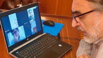Esta mañana el ministro de Agricultura, Ganadería y Pesca de la Nación, Luis Basterra, mantuvo una reunión por videoconferencia con los integrantes de la Mesa de Enlace (Foto: Ministerio de Agricultura)
