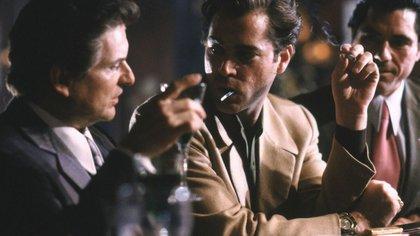 Joe Pesci (De Vitto) y Ray Liotta (Henry Hill) en una escena de Buenos Muchachos.
