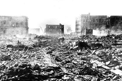 Imagen tomada por un sobreviviente de Hiroshima el 7 de agosto de 1945, el día después de la bomba. (Reuters)