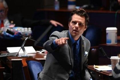 En la imagen, el congresista republicano Matt Gaetz. EFE/Erin Scott/Archivo