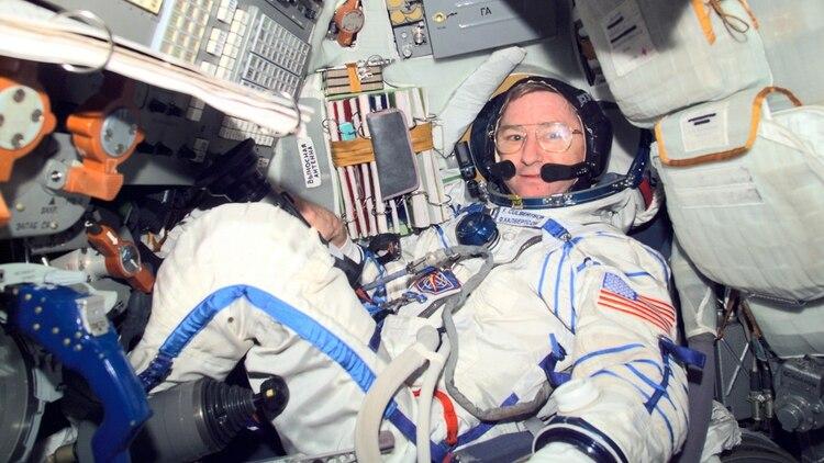 El astronauta Frank Culbertson era el único estadounidense fuera de la Tierra ese fatídico día (NASA)