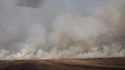 El humo afectó nuevamente a pobladores de localidades y ciudades como San Lorenzo, Rosario, Villa Constitución, Empalme, Theobald, Pavón y Rueda (Ministerio de Ambiente de la Nación)