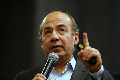Felipe Calderón ha sido un arduo crítico del Tren Maya (Foto: Francisco Guasco/EFE)