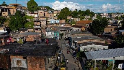 El barrio de Manaos donde vive María (MICHAEL DANTAS / AFP)