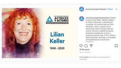 El comunicado de la Asociación Argentina de Actores