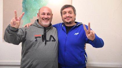 La foto con Santiago Cúneo con Máximo Kirchner generó fuerte polémica en la campaña del 2019 (Foto: @SantiagoCuneo)