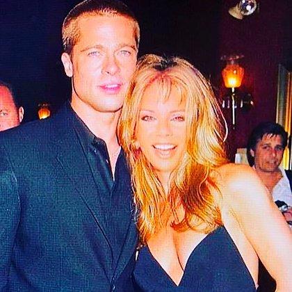 La foto de Alfano y Brad Pitt que generó rumores (Instagram: @iconoalfano)