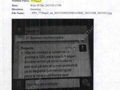 Con varios mensajes, autoridades estadounidenses inculparon a Salvador Cienfuegos (Foto: Captura de Pantalla)