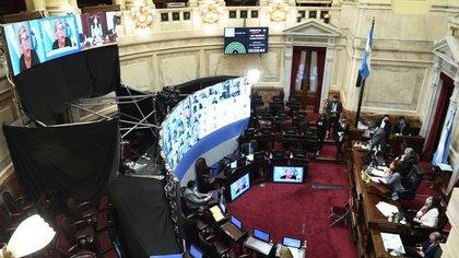 El jueves pasado, el Senado aprobó el proyecto de la cuestionada reforma judicial y ahora deberá debatirse en Diputados (Foto: LUCIANO INGARAMO / COMUNICACION SENADO).