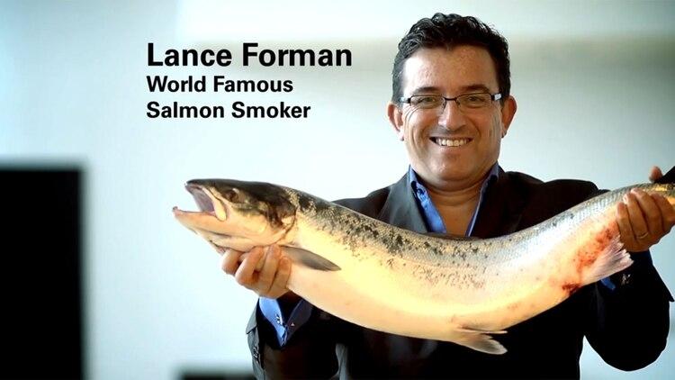 Lance Forman, propietario del ahumadero de salmón H. Forman & Son