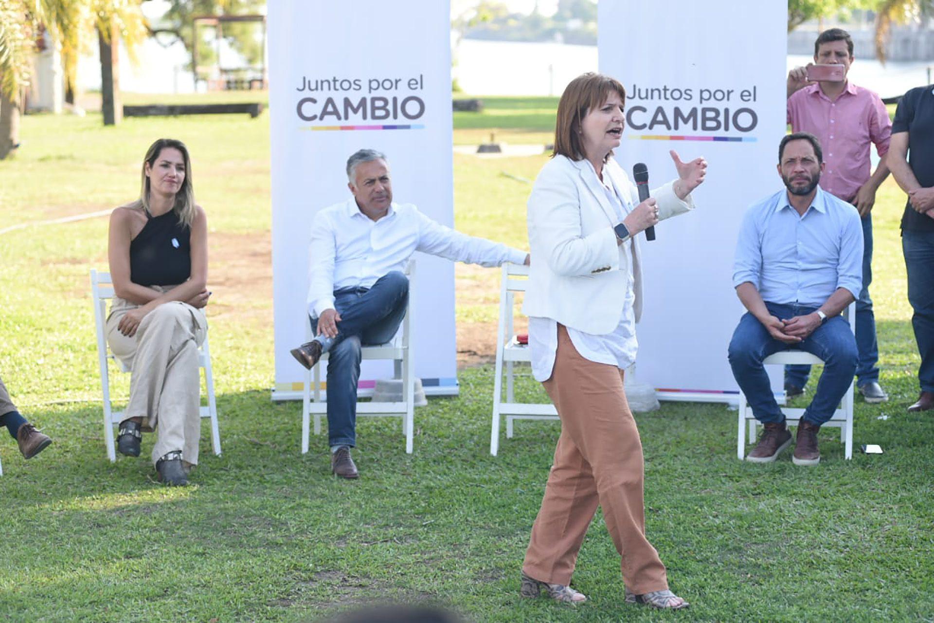 Patricia Bullrich en la presentación de la lista de Carolina Losada en Santa Fe